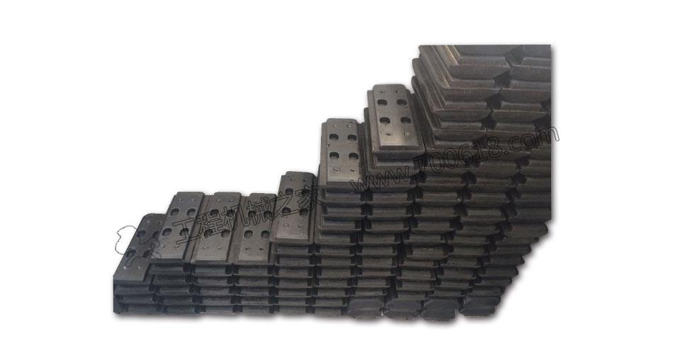 徐工RP952摊铺机履带板胶块